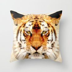 abstract tiger Throw Pillow