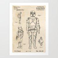 Boba Fett - Vintage Toy … Art Print