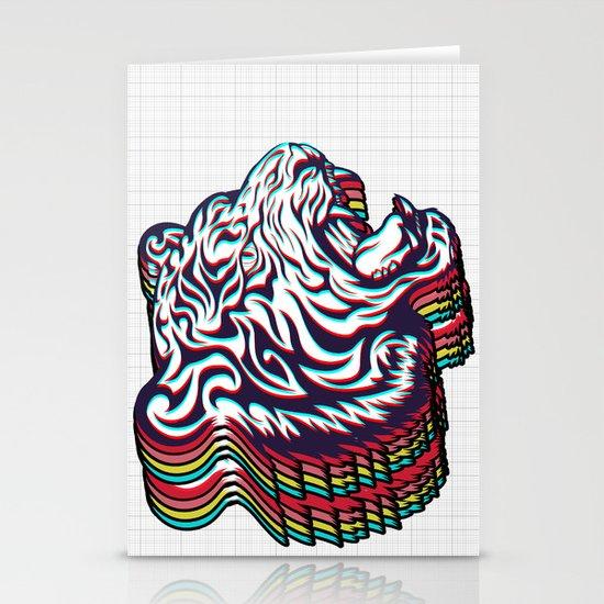 3D Tiger Stationery Card