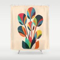 Ikebana - Geometric Flow… Shower Curtain