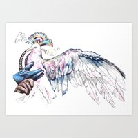 Like Soaring Through The… Art Print