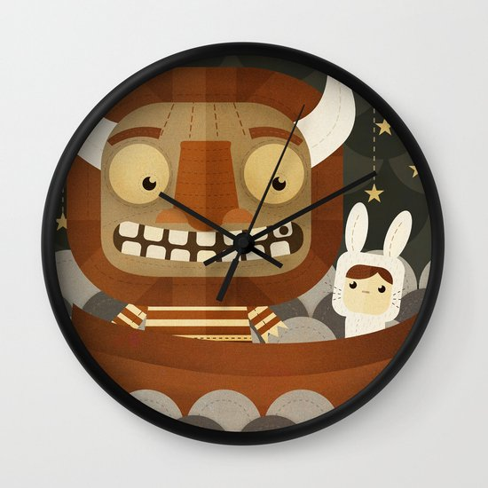 Where the wild things are fan art Wall Clock