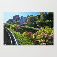 Lombard Street views  Canvas Print