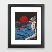 Melting World Framed Art Print