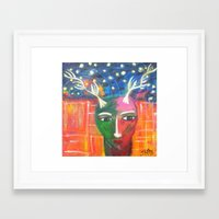 She Lives in a Time of Her Own Framed Art Print