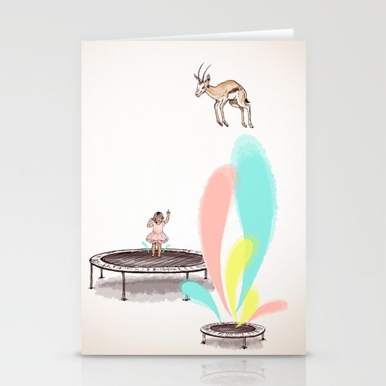 Gazelles Make Bad Friends Stationery Card