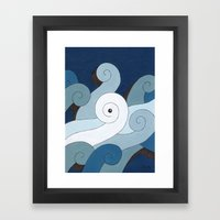 Mono Pattern | The Waves Framed Art Print