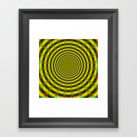 Pulse in Red Yellow and Green Framed Art Print