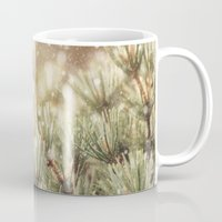 snow on pine Mug