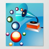 Atomic Music Canvas Print
