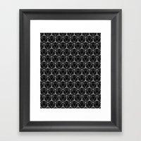 Icosahedron Pattern Blac… Framed Art Print