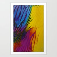 Colorful Flame Art Print
