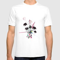 Bubbles White Mens Fitted Tee SMALL