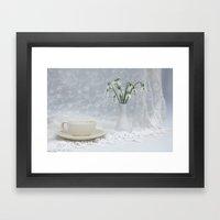 Snowdrops At Teatime Framed Art Print