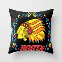 Americas Natives  Throw Pillow