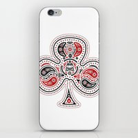 83 Drops - Clubs (Red & Black) iPhone & iPod Skin