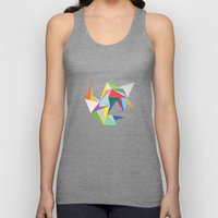 Abstract Triangles Unisex Tank Top