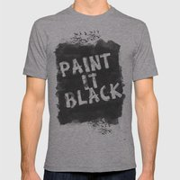Paint It Black Mens Fitted Tee Athletic Grey SMALL