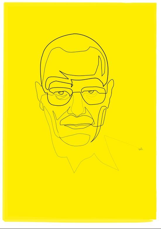 One Line Breaking Bad: Heisenberg Art Print