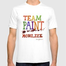 TEAM PAINT MOBILIZE Mens Fitted Tee SMALL White
