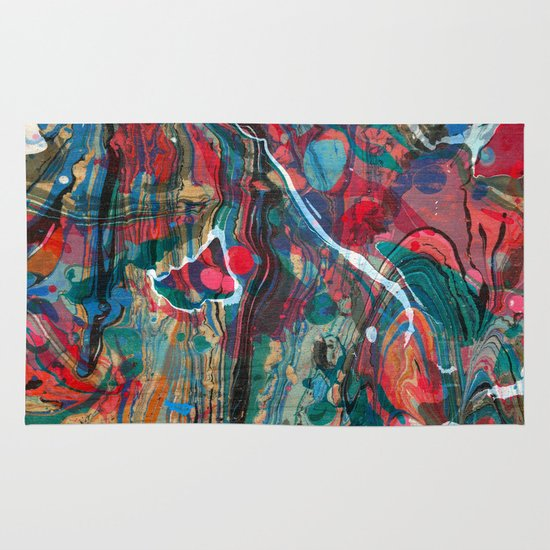 Abstract Painting ; Cosmos Area & Throw Rug