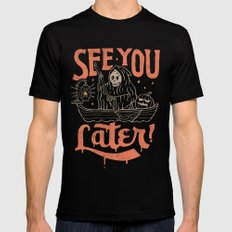 See You Black Mens Fitted Tee SMALL