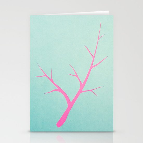 Branched in Pastel Stationery Card