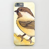 iPhone & iPod Case featuring Yellow Black-capped Chickadee by Yvonne Valenza