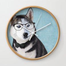 Mr Husky Wall Clock
