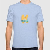 letter K Mens Fitted Tee Tri-Blue SMALL