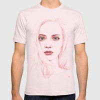 GIRL Mens Fitted Tee Light Pink SMALL