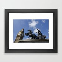 Boadecia and Big Ben Framed Art Print