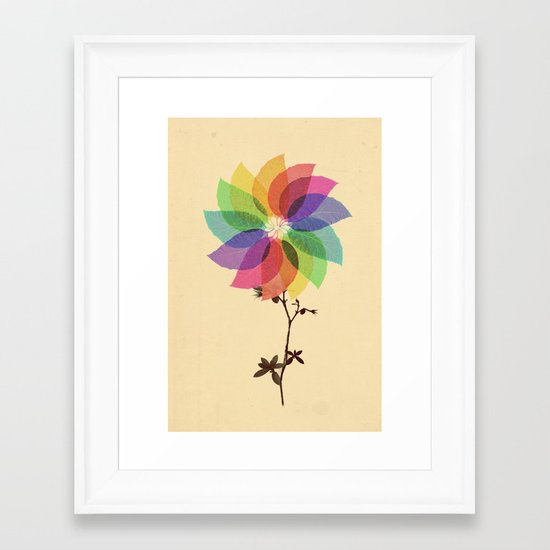 The windmill in my mind Framed Art Print