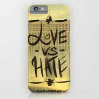 iPhone & iPod Case featuring Love VS Hate - Las Vegas - by Tobia Crivellari