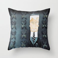 Dark butterflies Throw Pillow