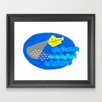 The Life Aquatic Fan Art Framed Art Print
