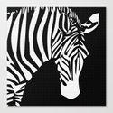 Zebra Head Stripe Design Pattern  Canvas Print