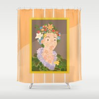 Flora by  Giuseppe Arcimboldo Shower Curtain