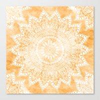 TANGERINE BOHO FLOWER MA… Canvas Print