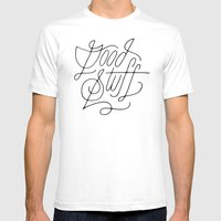 Good Stuff Mens Fitted Tee White SMALL