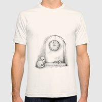 Time Mens Fitted Tee Natural SMALL