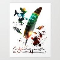 Futures Unwritten Art Print