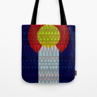 Colorado Flag/Geometric Tote Bag