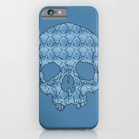 iPhone & iPod Case featuring Vintage blue skull by Dario Olibet