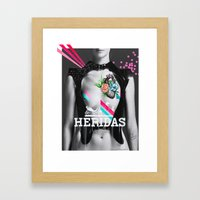 HERIDAS By Leo Tezcucano Framed Art Print