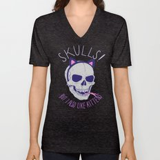 Skulls and Kittens Unisex V-Neck