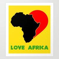 Love Africa Art Print