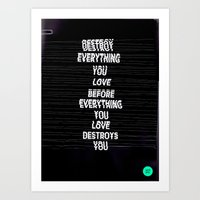 DESTROY / Alt Version Art Print
