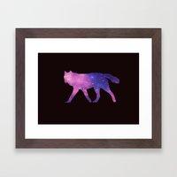 SPACE WOLF Framed Art Print
