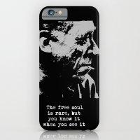 BUKOWSKI collage - The FREE SOUL quote iPhone 6 Slim Case
